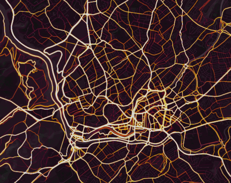 Bristol strava heat map